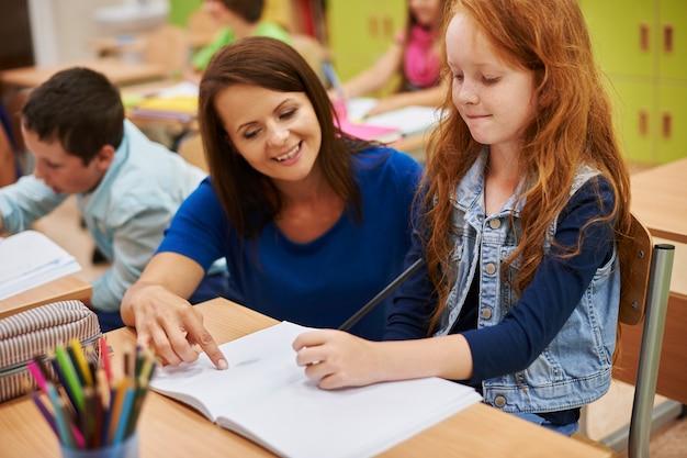 Za każdym razem nasz nauczyciel jest bardzo pomocny