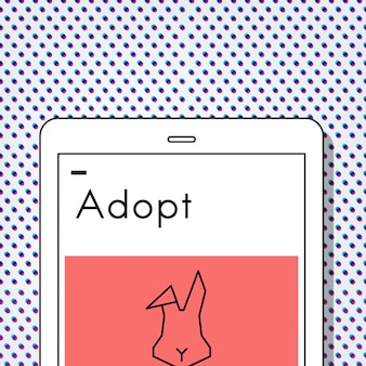 Zaadoptuj zwierzęta best friends ikona królika