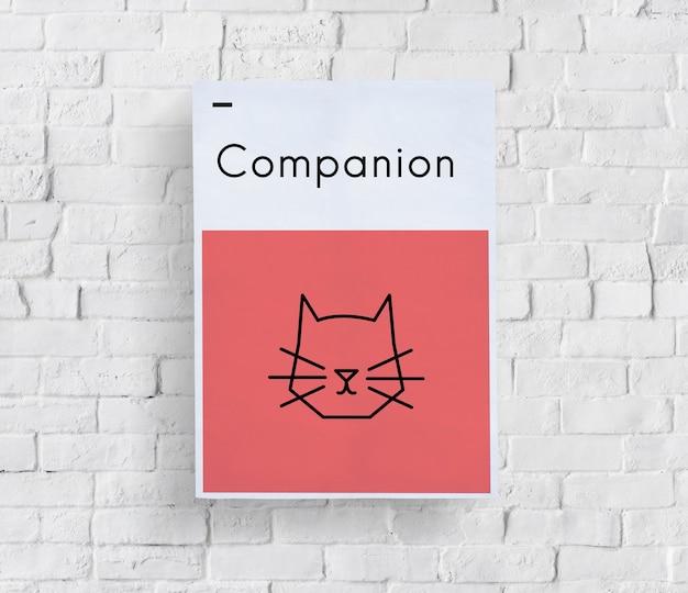 Zaadoptuj zwierzęta najlepsi przyjaciele kot ikonę
