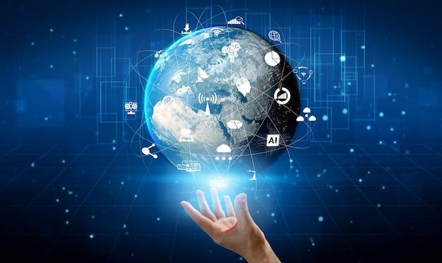 Zaawansowana komunikacja i globalne połączenie internetowe w inteligentnym mieście