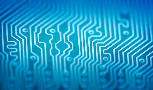 Zaawansowana płytka drukowana. technologia makro i koncepcja obliczeniowa. tło technologii sieciowych.