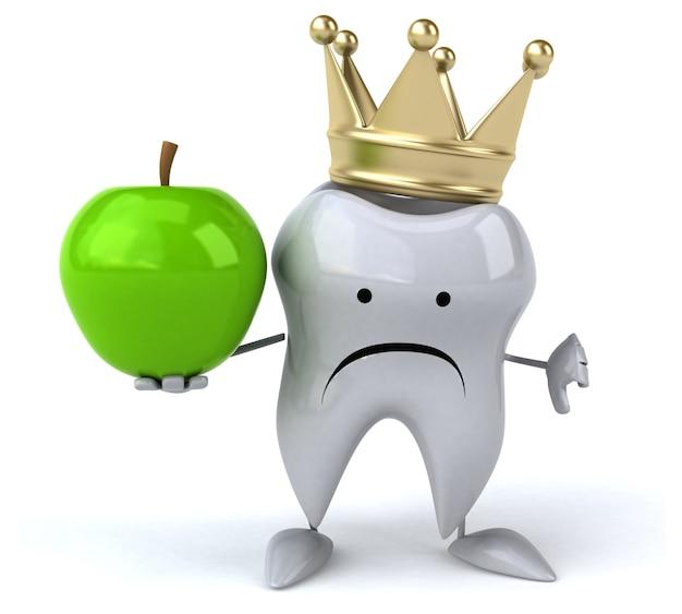Ząb zabawy - postać 3d