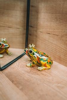 Żaba patrząc w lustro