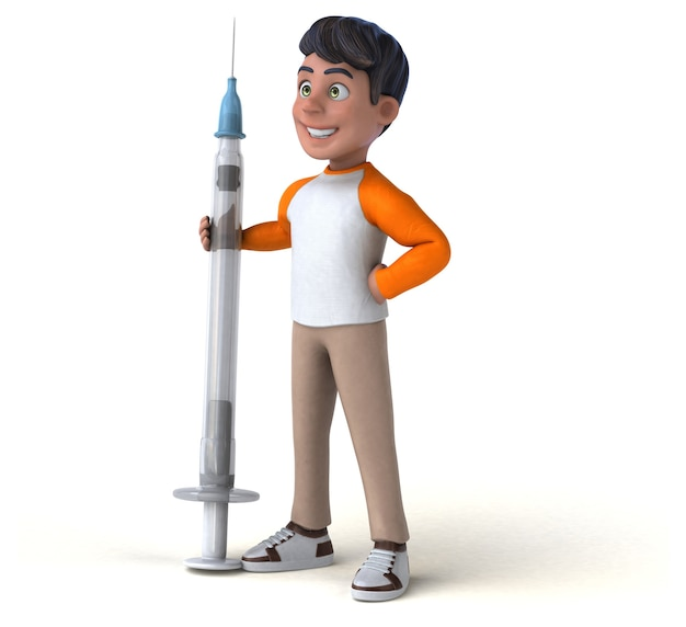 Zabawa 3d cartoon nastolatek azji