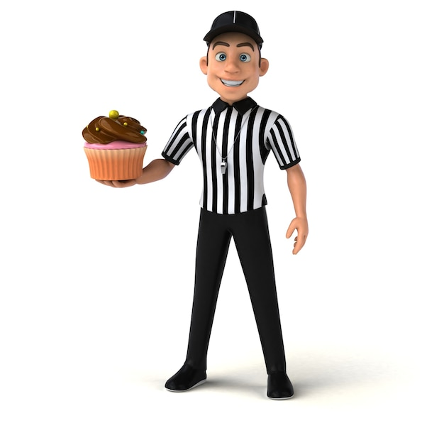 Zabawa 3d ilustracja amerykańskiego sędziego