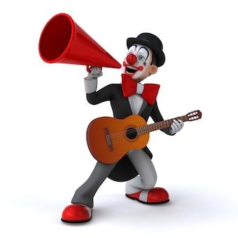 Zabawa 3d ilustracja zabawnego klauna