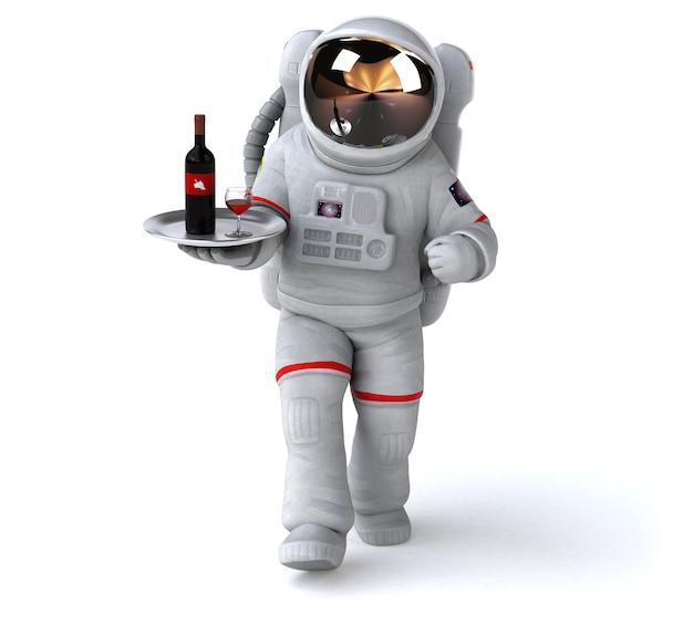 Zabawa astronauta ilustracja 3d