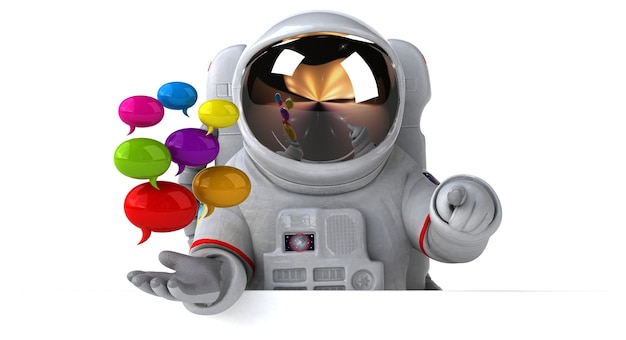 Zabawa astronauta ilustracja