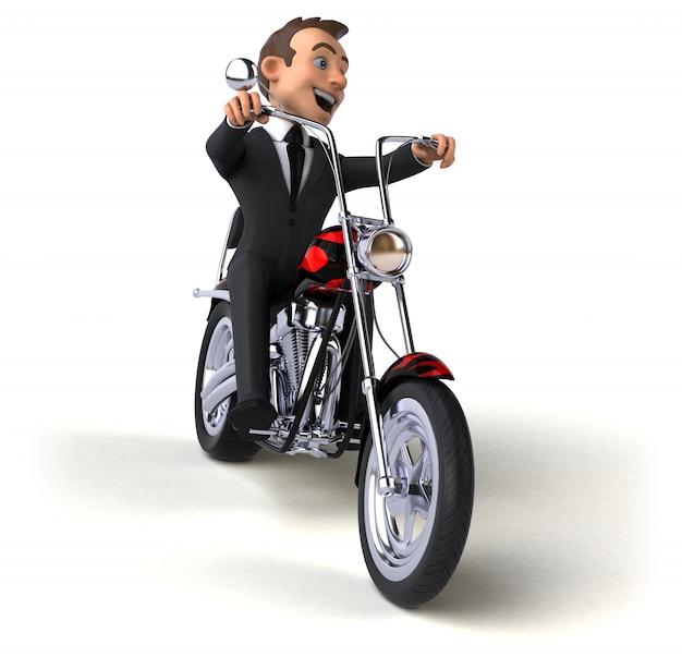 Zabawa biznesmen - 3d ilustracja
