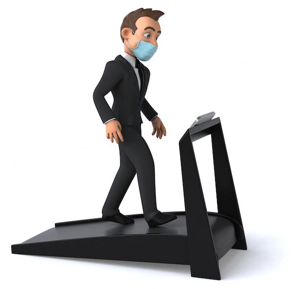 Zabawa biznesmen z maską