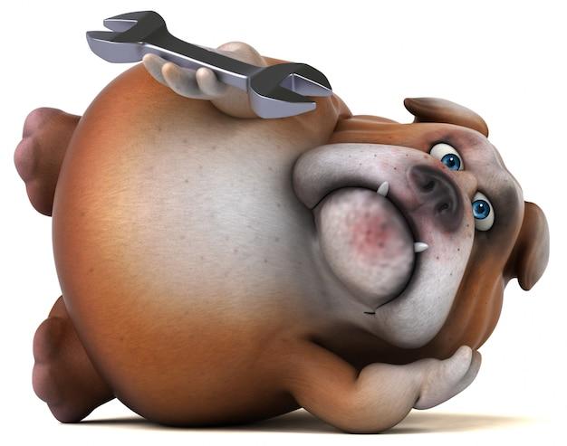 Zabawa buldog - 3d ilustracja