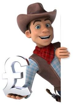 Zabawa cowboy 3d ilustracja