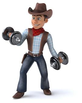 Zabawa cowboy - 3d ilustracji