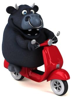 Zabawa czarny byk 3d ilustracja
