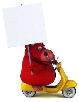 Zabawa czerwony byk - 3d ilustracja
