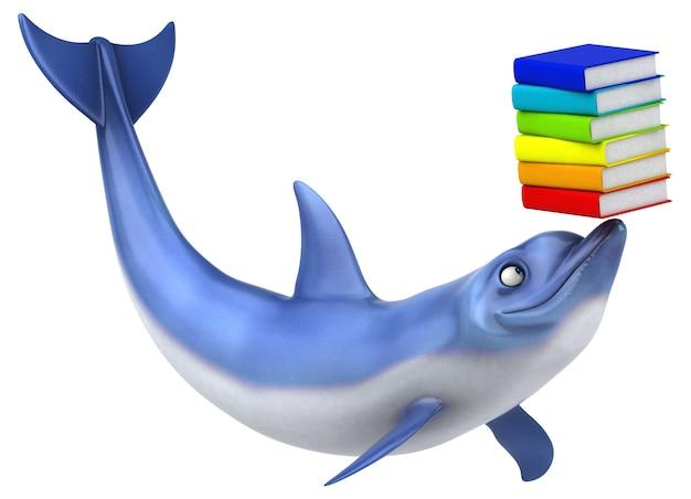 Zabawa delfinów - ilustracja 3d