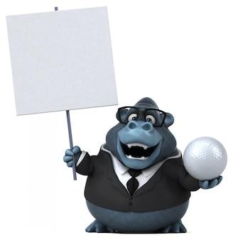 Zabawa goryl - ilustracja 3d