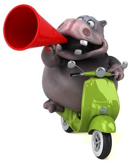 Zabawa hipopotama 3d ilustracja