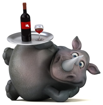 Zabawa ilustracja nosorożca