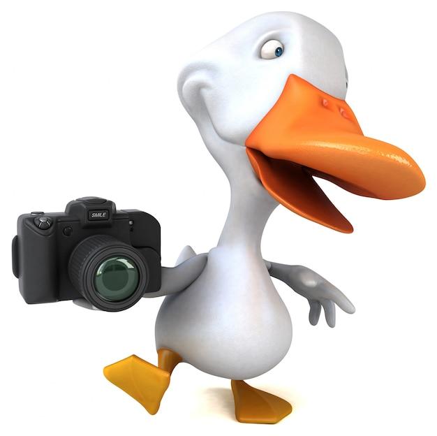 Zabawa kaczka 3d ilustracja