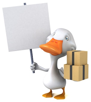Zabawa kaczka - ilustracja 3d