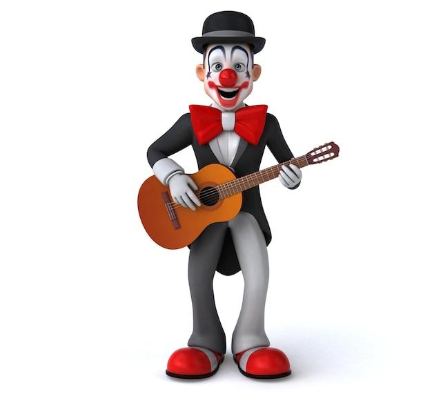 Zabawa klaun - ilustracja 3d