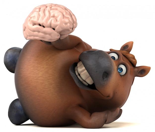 Zabawa konia - 3d ilustracji