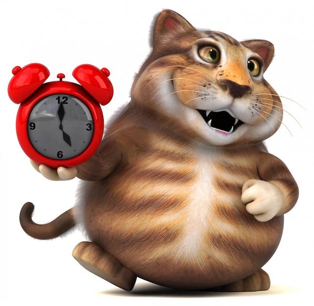 Zabawa kota - 3d ilustracji