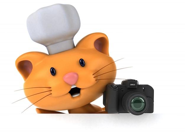 Zabawa kota ilustracja 3d