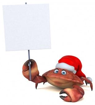 Zabawa krab - 3d ilustracja