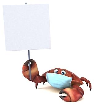Zabawa krab kreskówka z maską