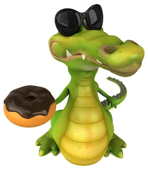 Zabawa krokodyl ilustracja