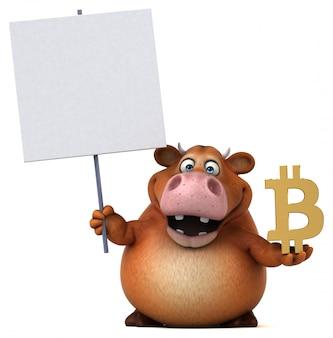 Zabawa krowa - 3d ilustracji