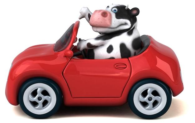Zabawa krowa - ilustracja 3d