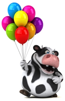 Zabawa krowa ilustracja