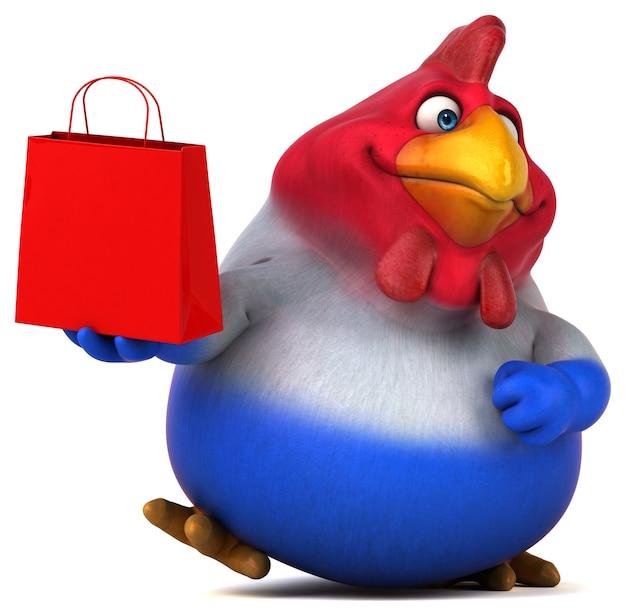 Zabawa kurczak - ilustracja 3d