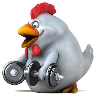 Zabawa Kurczak - Ilustracja 3d Darmowe Zdjęcia