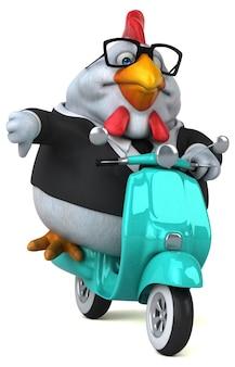 Zabawa kurczaka ilustracja 3d