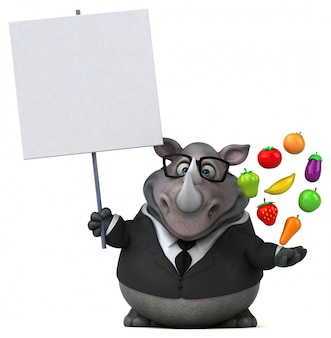 Zabawa nosorożec 3d ilustracja