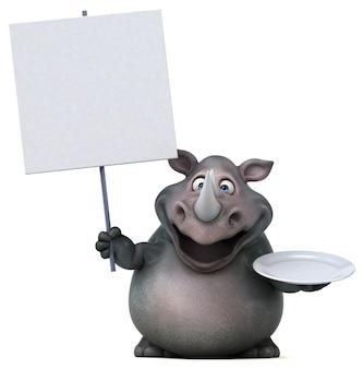 Zabawa nosorożec - 3d ilustracja