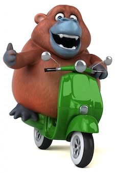 Zabawa orang-outan 3d ilustracji