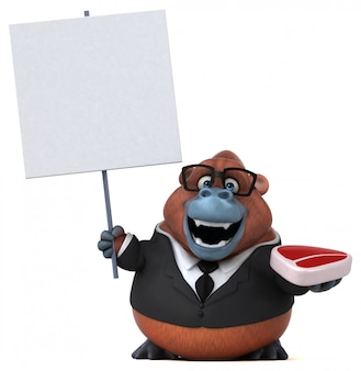 Zabawa orang-outan - ilustracja 3d