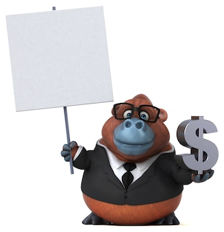 Zabawa orang outan ilustracja