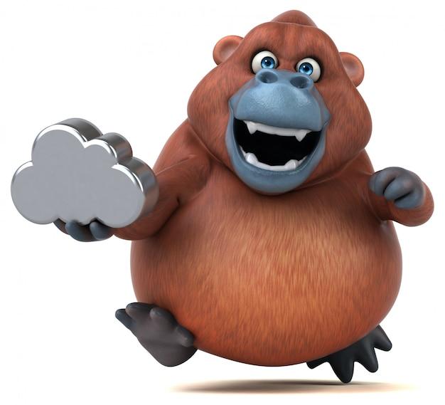 Zabawa orangoutan - 3d ilustracji