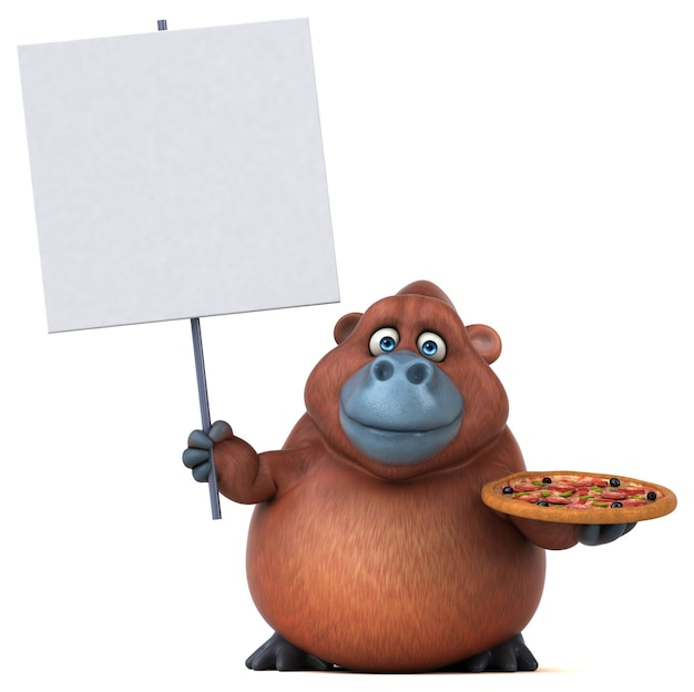 Zabawa orangoutan ilustracja