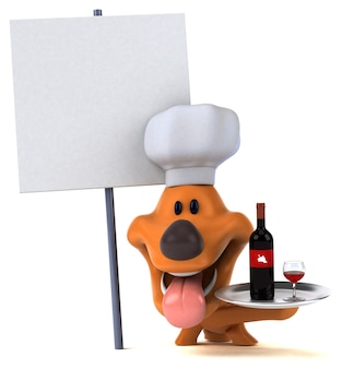 Zabawa pies - ilustracja 3d