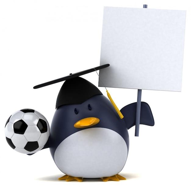 Zabawa pingwina 3d ilustracja