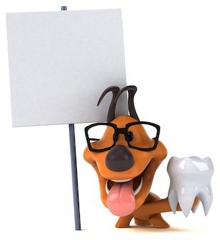 Zabawa psa 3d ilustracji