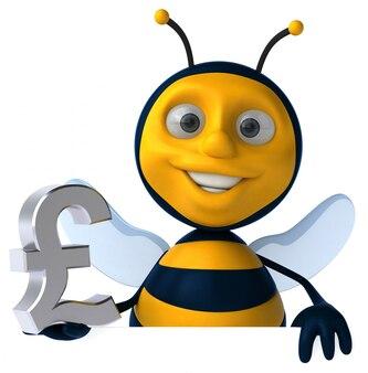Zabawa pszczoły 3d ilustracja
