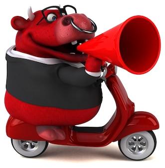 Zabawa red bull - ilustracja 3d